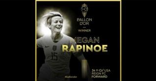 বর্ষসেরা নারী ফুটবলার মেগান রাপিনো