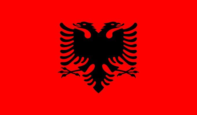 আলবেনিয়ার জাতীয় পতাকা